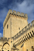 The walls of Papal Palace in Avignon, France — Stock Photo