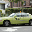"Stock Photo: New green-colored ""Boro taxi"" in New York"