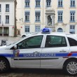 Municipal police car in Lyon, France — Stock Photo