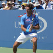 Stock Photo: Grand Slam champion and professional tennis player JuMartin Del Potro practices for US Open 2013