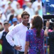 Twelve times Grand Slam champion Rafael Nadal during interview after his win in third round match at US Open 2013 — Stock Photo