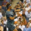 Twelve times Grand Slam champion Rafael Nadal during his second round match at US Open 2013 — Foto de Stock