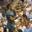 Twelve times Grand Slam champion Rafael Nadal during his second round match at US Open 2013 — Stock Photo