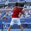 Professional tennis player Novak Djokovic during  fourth round match at US Open 2013 — Lizenzfreies Foto