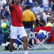 Professional tennis player Novak Djokovic during  fourth round match at US Open 2013 — ストック写真