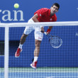 Professional tennis player Novak Djokovic during  fourth round match at US Open 2013 — Foto Stock