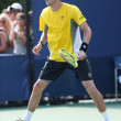 Stock Photo: Grand Slam champions Bob Bryduring first round doubles match at US Open 2013