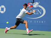 Professional tennis player Novak Djokovic practices for US Open 2013 — Stock Photo