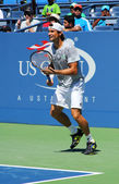Professional tennis player David Ferrer from Spain practices for US Open 2013 — Stock Photo