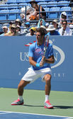 Grand Slam champion and professional tennis player Juan Martin Del Potro practices for US Open 2013 — Stock Photo