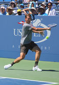 Professional tennis player Tomas Berdych from Czech Republic practices for US Open 2013 — Stock Photo