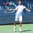 Professional tennis player Sergiy Stakhovsky from Ukraine during first round match at US Open 2013 — Stok fotoğraf