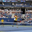 Stock Photo: Grand Slam champions Mike and Bob Bryduring third round doubles match at US Open 2013