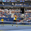 Grand Slam champions Mike and Bob Bryduring third round doubles match at US Open 2013 — Stock Photo #34700279