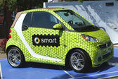 Smart Brabus Taylor made car on display at the Billie Jean King National Tennis Center during US Open 2013 — Stock Photo
