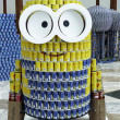 Delectable me food sculpture presented at  Canstruction competition  in New York — Stock Photo