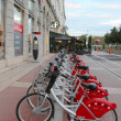 Velo'v bicycle sharing station in Lyon  — Stock Photo