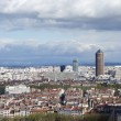 Aerial view of Lyon, France from Fourviere Hill — Stock Photo
