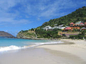 Flamands beach, St. Barts, French West Indies — Stock Photo