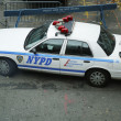 Stock Photo: NYPD car providing security in World Trade Center areof Manhattan