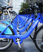 Citi bike station near World Trade Center site in Lower Manhattan — Stock Photo