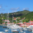 Stock Photo: GustaviHarbor with megyachts at St. Barts, French West Indies