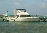 Belize Dive Connection boat in San Pedro, Belize — Stock Photo