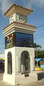 Clock Tower in San Pedro, Belize — Stock Photo