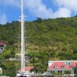 Stock Photo: Megyacht in GustaviHarbor at St Barts, Frech West Indies