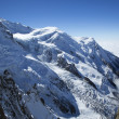 Mont Blanc massif in the French Alps — Stock Photo