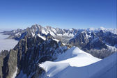 The Dents du Midi in the Swiss Alps — Stock Photo
