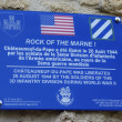 Sign in the memory of soldiers of US 3rd Infantry division liberated Chateauneuf-du-Pape, France — Stock Photo #36000733