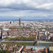Aerial view of Lyon from Fourviere Hill — Stock Photo #36000801