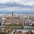 Постер, плакат: Aerial view of Lyon from Fourviere Hill