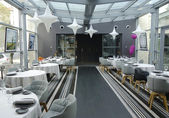 Tetedoie restauracja nowoczesny ozdoba wewnętrznego w Lyonie — Zdjęcie stockowe