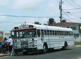 Bus stop in Belize City — ストック写真