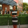 Stock Photo: TV anchor Robin Roberts at red carpet before US Open 2013 opening night ceremony