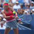 Two times Grand Slam champion VictoriAzarenkduring third round singles match at US Open 2013 — Stock Photo #36149879