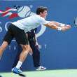 Professional tennis player  Milos Raonic during third round singles match at US Open 2013 — Stock Photo