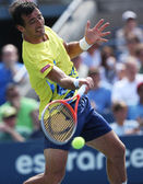 Professional tennis player Ivan Dodig during third round singles match at US Open 2013 — Stock Photo