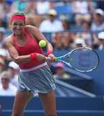 Two times Grand Slam champion Victoria Azarenka during third round singles match at US Open 2013 — Stock Photo
