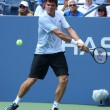 Professional tennis player Milos Raonic during first round singles match at US Open 2013 — Stock Photo #36321769