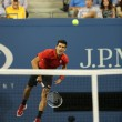 Six times Grand Slam champion Novak Djokovic during first round singles match at US Open 2013 — Stock Photo #36321791