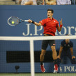Six times Grand Slam champion Novak Djokovic during first round singles match at US Open 2013 — Stock Photo #36321795