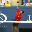 Six times Grand Slam champion Novak Djokovic during first round singles match at US Open 2013 — Stock Photo #36321797