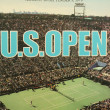 US Open 1979 poster on display at the Billie Jean King National Tennis Center — Stok fotoğraf