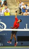 Six times Grand Slam champion Novak Djokovic during first round singles match at US Open 2013 — Stock Photo