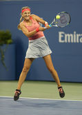 Two times Grand Slam champion Victoria Azarenka during first round singles match at US Open 2013 — Stock Photo