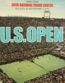 US Open 1979 poster on display at the Billie Jean King National Tennis Center — Stock Photo