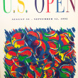 US Open 1992 poster on display at the Billie Jean King National Tennis Center — 图库照片